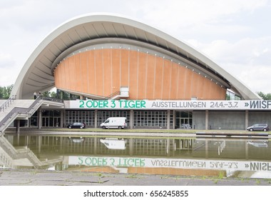 BERLIN, GERMANY - JUNE 5, 2017: Haus der Kulturen der Welt, Meaning House of the World's Cultures In German Language, in Berlin