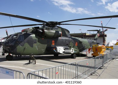 BERLIN, GERMANY - JUNE 6, 2010: Germany - Army Sikorsky (VFW-Fokker) CH-53GA (S-65C-1) (Registration:8504) displayed at ILA 2010.