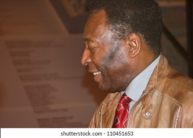 BERLIN, GERMANY - JUNE 7TH: Edson Arantes do Nascimento, Pele, signing autographs during the opening o the Pelestation Exhibition on June 7th, 2006.