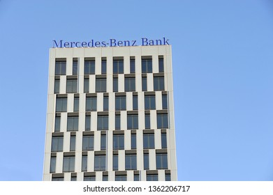 Berlin / Germany - June 9, 2012: Mercedes-Benz Bank in Berlin, Germany - The Mercedes-Benz Bank is one of the leading automotive banks in Germany. It is a subsidiary of Daimler Financial Services