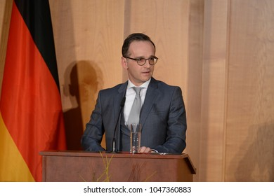 BERLIN, GERMANY,  - Mar 14, 2018: German foreign minister Heiko Maas at the office handover