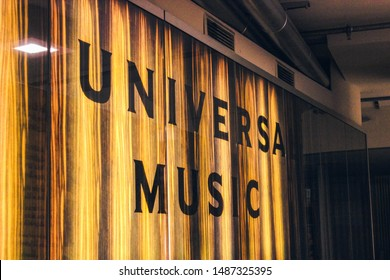 Berlin, Germany - March 18, 2018: Universal Music Group Deutschland building, Universal Music Germany office