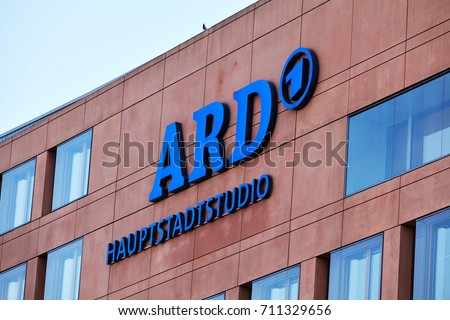 BERLIN, GERMANY - MARCH 19, 2015: logo German television station ARD