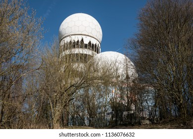 BERLIN, GERMANY, MARCH 28, 2017: Towers of the former NSA Building for bugging, in Berlin.