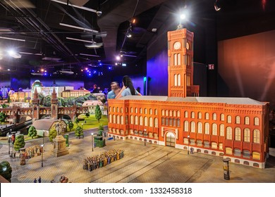 BERLIN, GERMANY - March 3, 2019: Berlin landmarks on a scale of 1:21 in the museum Little Big City
