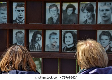 Berlin, Germany, May 03, 2014: berlin wall memorial with deceased people photograph