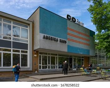 Berlin, Germany - may 1, 2018: Amerika Haus, CO Berlin gallery building in West Berlin.