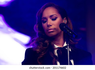 BERLIN - GERMANY - MAY 10: Leona Lewis performs live in concert at Alexa on May 10, 2014 in Berlin, Germany.