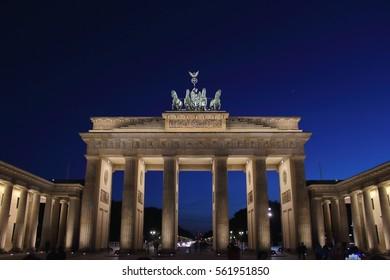 BERLIN, GERMANY - MAY 11, 2015: The Brandenburg Gate