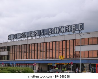 BERLIN, GERMANY - MAY 12, 2014: The Schoenefeld international airport is the second largest Berlin airport after Tegel,flight