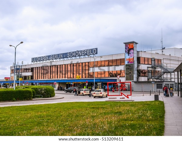 BERLIN, GERMANY - MAY 12, 2014: The Schoenefeld international airport is the second largest Berlin airport after Tegel,flight (HDR)