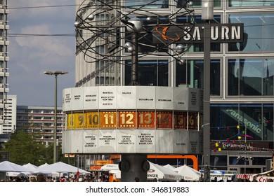 BERLIN, GERMANY - MAY 15: Famous World Clock located in Alexanderplatz in Berlin, Germany