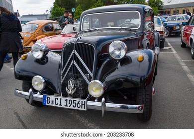 BERLIN, GERMANY - MAY 17, 2014: Mid-size luxury car Citroen Traction Avant. 27th Oldtimer Day Berlin - Brandenburg