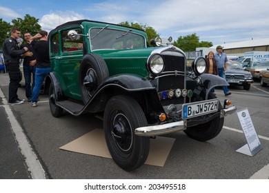 BERLIN, GERMANY - MAY 17, 2014: Oldtimer Opel 1.2-litre Cabrio-Limousine (1934). 27th Oldtimer Day Berlin - Brandenburg