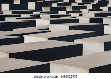 Berlin, Germany - May 18, 2019: Holocaust Memorial Berlin Germany Memorial to the Murdered Jews of Europe