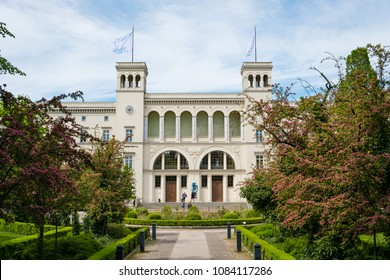 Berlin, Germany - may, 2018: The Hamburger Bahnhof former railway station now  the Museum fuer Gegenwart (Museum of the Present) in Berlin, Germany