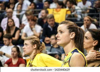 Berlin, Germany - May 21, 2019: Volleyball player Marta Bechis, part of the Imoco Volley Conegliano, Italian women's volleyball club, during the CEV Champions League Volley 2019 Super Final