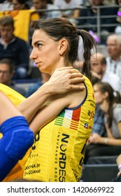 Berlin, Germany - May 21, 2019: Italian volleyball player Raphaela Folie, part of the Imoco Volley Conegliano, Italian women's volleyball club, during the CEV Champions League Volley 2019 Super Final