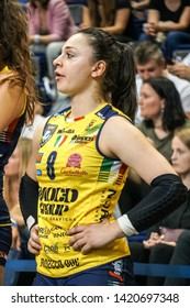 Berlin, Germany - May 21, 2019: Volleyball player Eleonora Fersino, part of the Imoco Volley Conegliano, Italian women's volleyball club, during the CEV Champions League Volley 2019 Super Final