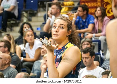 Berlin, Germany - May 21, 2019: Volleyball player Gaia Moretto, part of the Italian women's club Imoco Volley Conegliano, during the CEV Champions League Volley 2019 Super Final