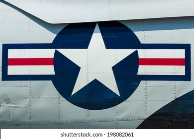 BERLIN, GERMANY - MAY 22, 2014: Roundel of the US Air Force (USAF).