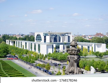 Berlin, Germany - May, 23rd 2015 the The Federal Chancellery (German: Bundeskanzleramt), residence and executive office of the Chancellor of Germany,in Berlin, Germany