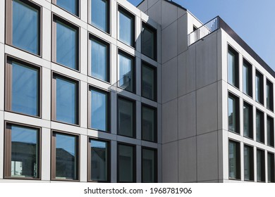 Berlin, Germany – May 24 2019: European modern residential architecture. Exterior of modern apartment building