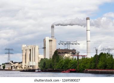 berlin, germany, may, 25, 2014, cogeneration plant Klingenberg in Berlin Lichtenberg