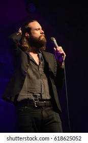 Berlin, Berlin / GERMANY - May 25, 2016: American rock band Father John Misty from Rockville, Maryland, with its vocalist Joshua Michael Tillman giving a live concert in Berlin Astra Kulturhaus.
