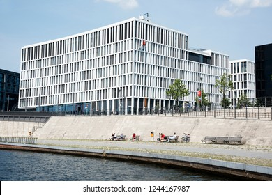 BERLIN, GERMANY - MAY 28, 2018: A view of the PWC headquarters in Berlin, Germany. PriceWaterhouseCoopers, operating as PWC, is a multinational professional services network company