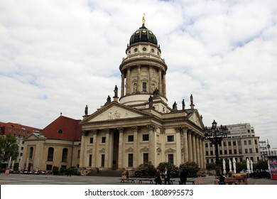 Berlin, Germany - May 3, 2016: French Cathedral at Gendarmenmarkt Square, officially known as French (Reformed) Church of Friedrichstadt, built in 18th century for the Huguenot (Calvinist) community