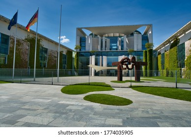 Berlin / Germany - May 31, 2020: German Federal Chancellery in the government district of Berlin (Bundeskanzleramt)