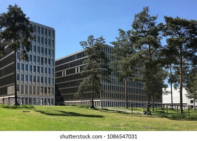 Berlin, Germany - May 7, 2018: Headquarters of the German Federal Intelligence Service Bundesnachrichtendienst BND in the German capital Berlin on the Chausseestrasse - Germany.