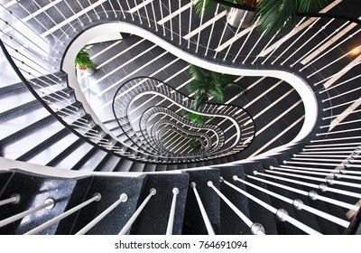 BERLIN, GERMANY - NOV 07,2016: Staircase in the business center in the Tiergarten district.