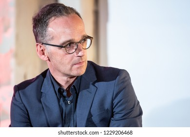 Berlin, Germany - November 10th 2018: Heiko Maas speaking at the SPD Debattencamp