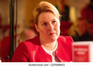 Berlin, Germany - November 11th 2018: Franziska Giffey, the German family minister, speaking at the SPD Debate day.