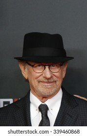 "BERLIN, GERMANY - NOVEMBER 13: Steven Spielberg attends German premiere of ""Bridge of Spies"" in ZOO Palast cinema on November 13, 2015 in Berlin, Germany"