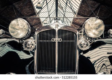 BERLIN, GERMANY - November 2016: Horch Oldtimer front view