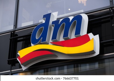 Berlin, Germany - November 23, 2017: Dm drogeriemarkt store. Dm-drogerie markt is a chain of retail drugstore chain for cosmetics, healthcare and household products and food