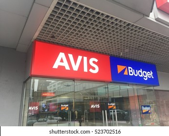 Berlin, Germany - November 25, 2016: Avis car rental office. Founded in 1946, Avis is an American leading rental car provider to the commercial segment serving business travelers at major airports