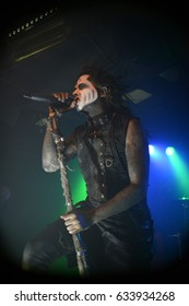 Berlin, Berlin / GERMANY November 3, 2015: American horror-punk band Wednesday 13 from California, with its vocalist Joseph Poole giving a live concert in Berlin (Germany) Magnet Club in 2015