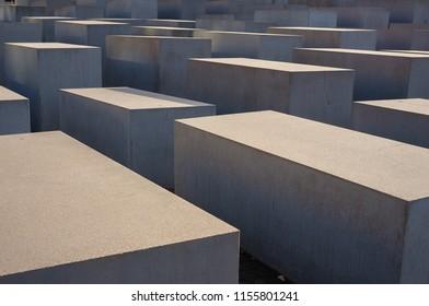Berlin, Germany - November 30, 2015: Holocaust memorial place in Berlin