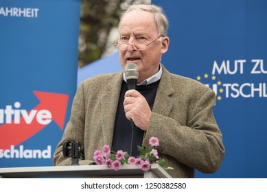 Berlin, Germany, November 7th, 2015: Alexander Gauland speaking at the large AfD anti-EU Demo in Berlin.