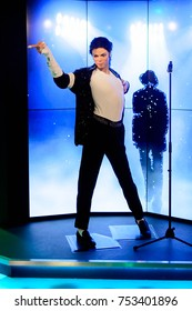 BERLIN, GERMANY - OCT 1, 2017: Michael Jackson, King of pop, Madame Tussauds  Berlin wax museum.