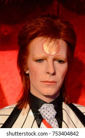 BERLIN, GERMANY - OCT 1, 2017: David Bowie, English singer, Madame Tussauds  Berlin wax museum.