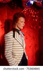 BERLIN, GERMANY - OCT 1, 2017: David Bowie, English singer, Madame Tussauds  Berlin wax museum.