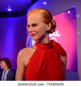 BERLIN, GERMANY - OCT 1, 2017: Nicole Kidman, Hollywood actress, Madame Tussauds  Berlin wax museum.