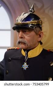 BERLIN, GERMANY - OCT 1, 2017: Otto von Bismarck, Chancellor of the German Empire, Madame Tussauds  Berlin wax museum.