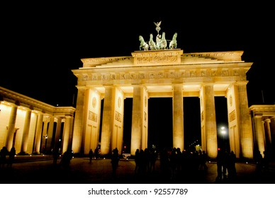 BERLIN, GERMANY – OCTOBER 06: The Brandenburg Gate on October 06, 2010 in Berlin, Germany. The Brandenburg Gate is a former city gate and one of the most well-known landmarks of Berlin and Germany.