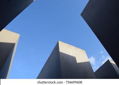 BERLIN, GERMANY - October 12, 2017: Memorial to the Murdered Jews of Europe (Holocaust Memorial)
